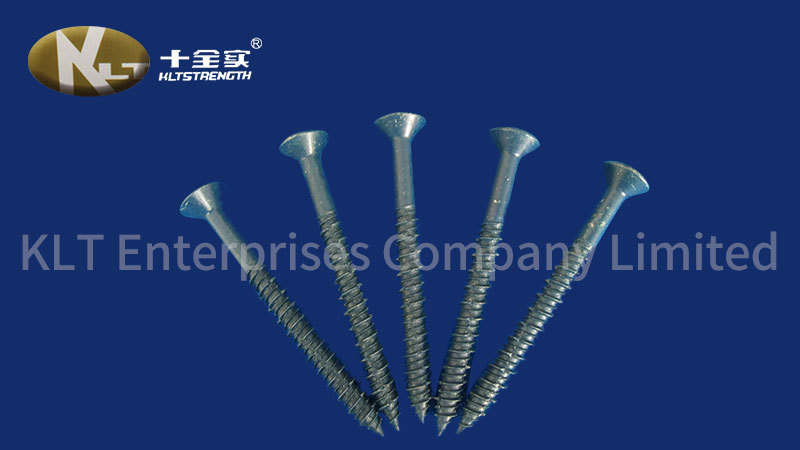 Concrete Machine Screw With High Low Thread